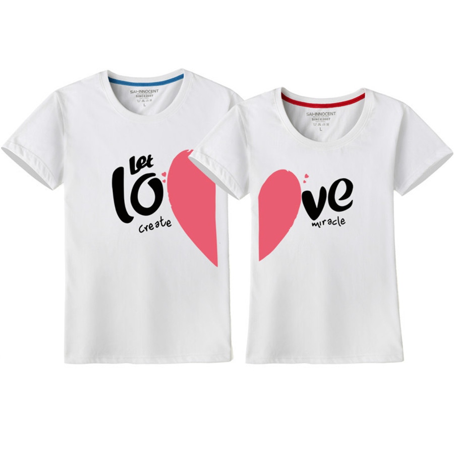Valentine Day Couple T Shirt Couples Love T Shirts Women Men Short Sleeve Tshirts Tops Lover Tee Valentine S Day Gi T Shirts Aliexpress