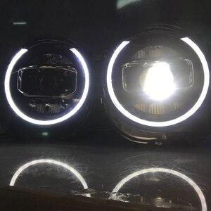 Image 5 - ل Jeep Renegade 2015 2018 المصابيح الأمامية LED DRL تشغيل أضواء ثنائية زينون شعاع عيون الملاك مصباح السيارات الأمامي