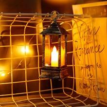 Lámpara colgante de llama, Lámpara decorativa, luz Vintage, fiesta, castillo, Halloween, calabaza, noche de Halloween, luz de la habitación del hogar, Decoración LED colorida