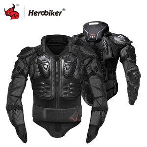 Image 2 - HEROBIKER motosiklet ceketler motosiklet zırhı yarış vücut koruyucu ceket motokros motosiklet koruyucu donanım + boyun koruyucu