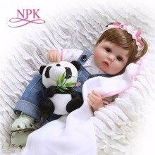 reborn doll 43cm soft silicone toddler baby dolls com corpo de menina Christmas surprice gifts lol