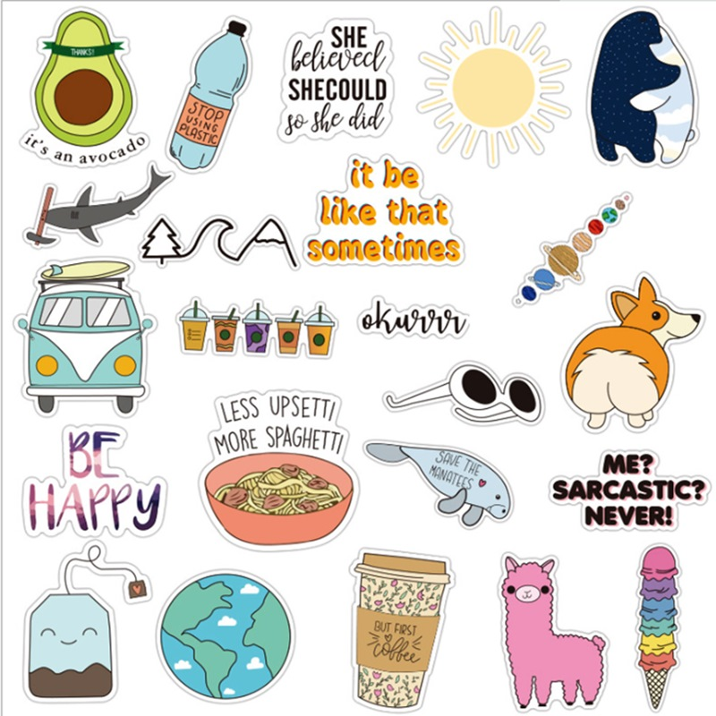 Cute Laptop Stickers For Girl 25 Pcs Cartoon Trendy Waterproof Vinyl Decal Perfect For Water Bottle Luggage Computer Notebook