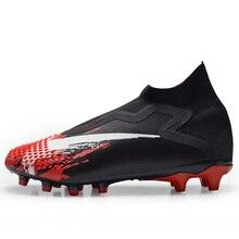 High Top Football Shoes Men Soccer Boots Long Spikes Outdoor Soccer Training Sneakers TF FG Chuteira Futebol Women New Hot Sale