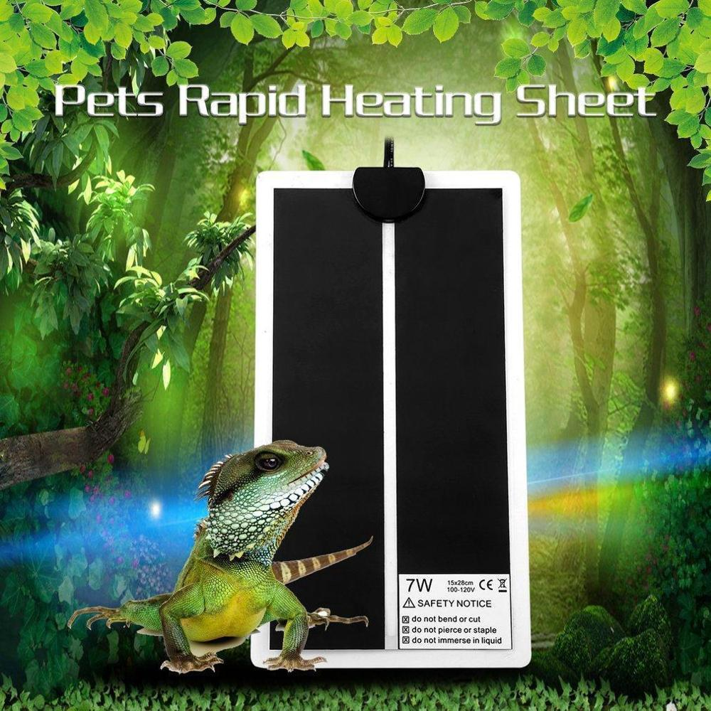 Heating Warm Pad Adjustable Temperature Controller Incubator Terrarium Reptiles Supplies 5W/7W/45W Climbing Plant Heated Pet Mat