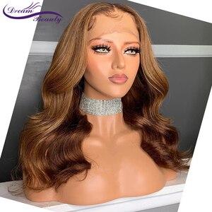 Image 3 - Ombre Tóc Vàng Nổi Bật Tóc Ren Mặt Trước Tóc Giả Với Tóc Cho Bé 13X6 Brasil Lượn Sóng Remy Tóc Trước Nhổ Con Người tóc Giả Giấc Mơ Làm Đẹp