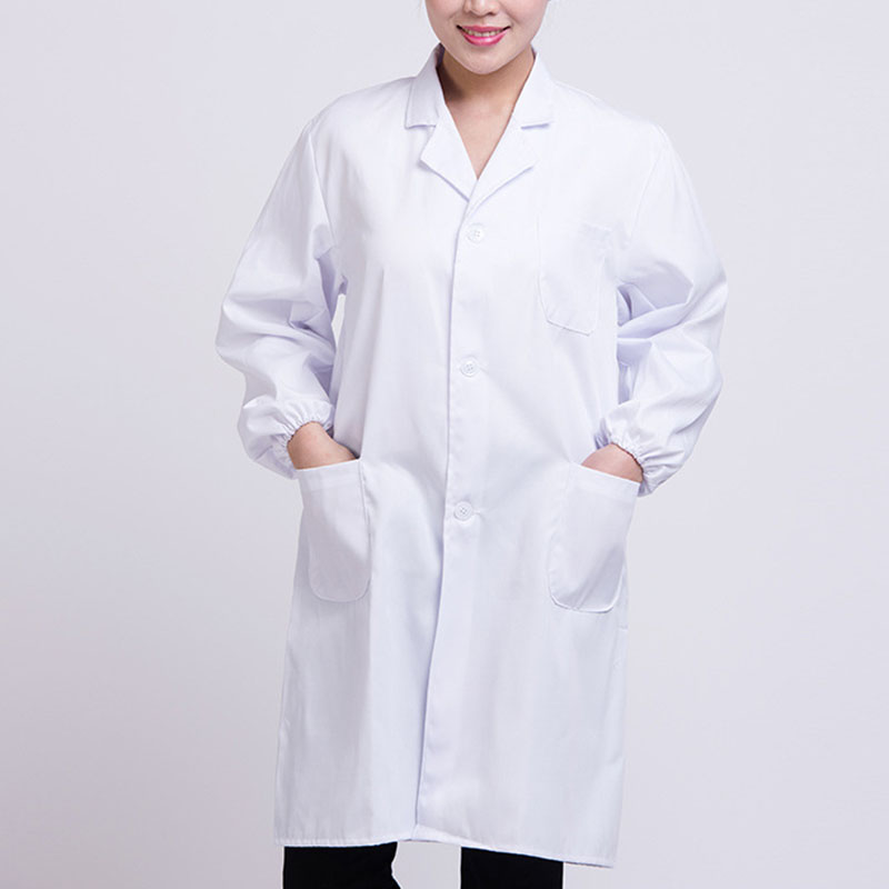 Newly White Lab Coat Doctor Hospital Scientist School Fancy Dress Costume For Students Adults CLA88
