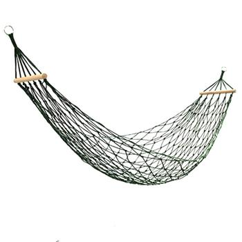 Hanging Folding Patio Swing Chair Furniture Portable Nylon Mesh Hammock Sleeping Bed For Outdoor Travel Camping Blue Green Red super strength folding nylon hammock hanging swing hamak beach camping patio sleeping tree bed with 2 strap 2 carabiner
