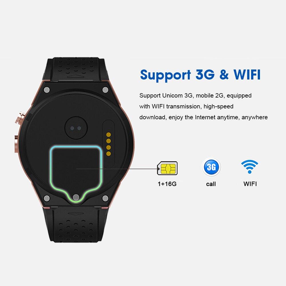 Kaimorui KW88 Pro Android 7,0 Смарт часы с камерой 1 Гб + 16 Гб Bluetooth MTK6580 3G sim карта gps WiFi умные часы для IOS Android - 4