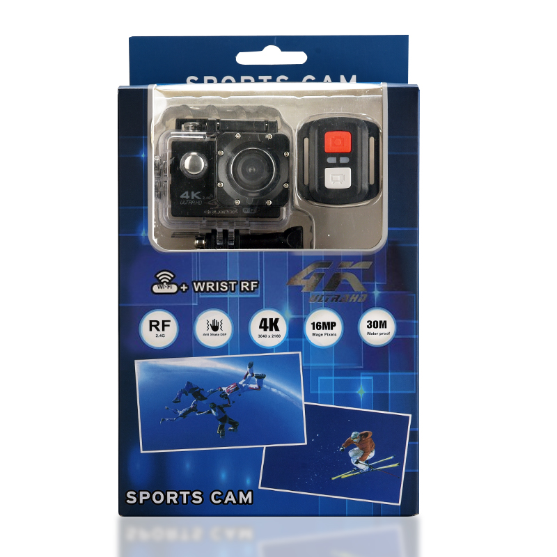 H16R Ultra HD 4K Action Camera WiFi Remote Control Sport Camera Go Waterproof Pro Sports Video Camcorder DVR DV Helmet Camera in Sports Action Video Camera from Consumer Electronics