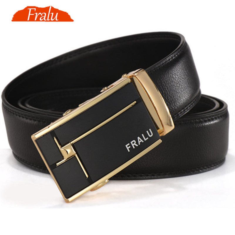 FRALU men leather belt genuine leather belts automatic belts for men - Apparel Accessories