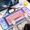 Cute Cat Ears Big Mouse Pad 80CM*40CM For Girl Thicken Computer Games Non-slip Pink Girl Cartoon Super Cute