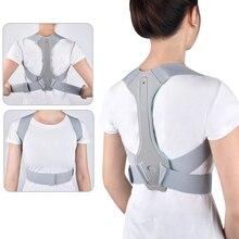 Brace תמיכת חגורת מתכוונן חזור יציבת מתקן עצם הבריח עמוד השדרה חזרה כתף המותני יציבה תיקון