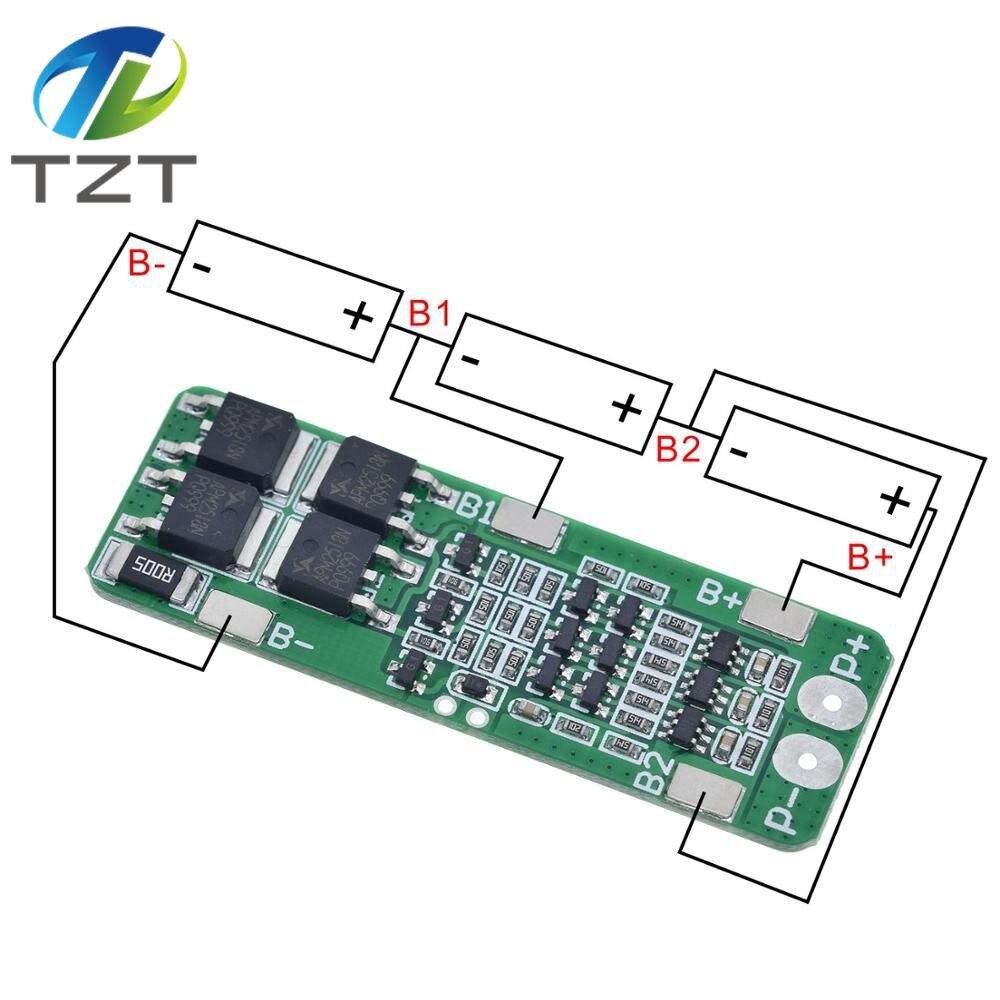 3S 20A литий-ионный аккумулятор 18650 зарядное устройство PCB плата защиты BMS 12,6 В ячейка 59x20x3,4 мм модуль