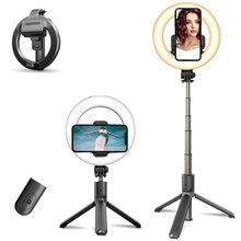 Anillo de luz con trípode para Selfie, soporte para teléfono móvil, para iPhone 11, Xiaomi, Huawei, Samsung, Gopro, monopié de cámara