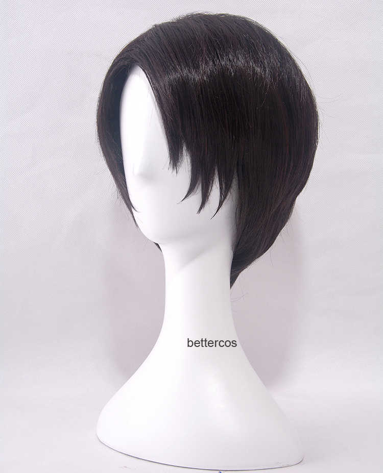 Japanese Anime Attack on Titan men Levi Ackerman  cosplay wig Heichov Rivaille Ackerman black styled short hair