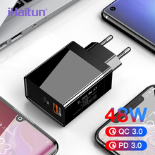 iHaitun New 48W PD 3.0 Type C For iPhone 11 Pro Max USB Charger Quick Charge QC 4.0 Fast Mini Travel Charger 30W PD Mobile Phone type c pd test board burn in board decoy test protocol board pd fast charge