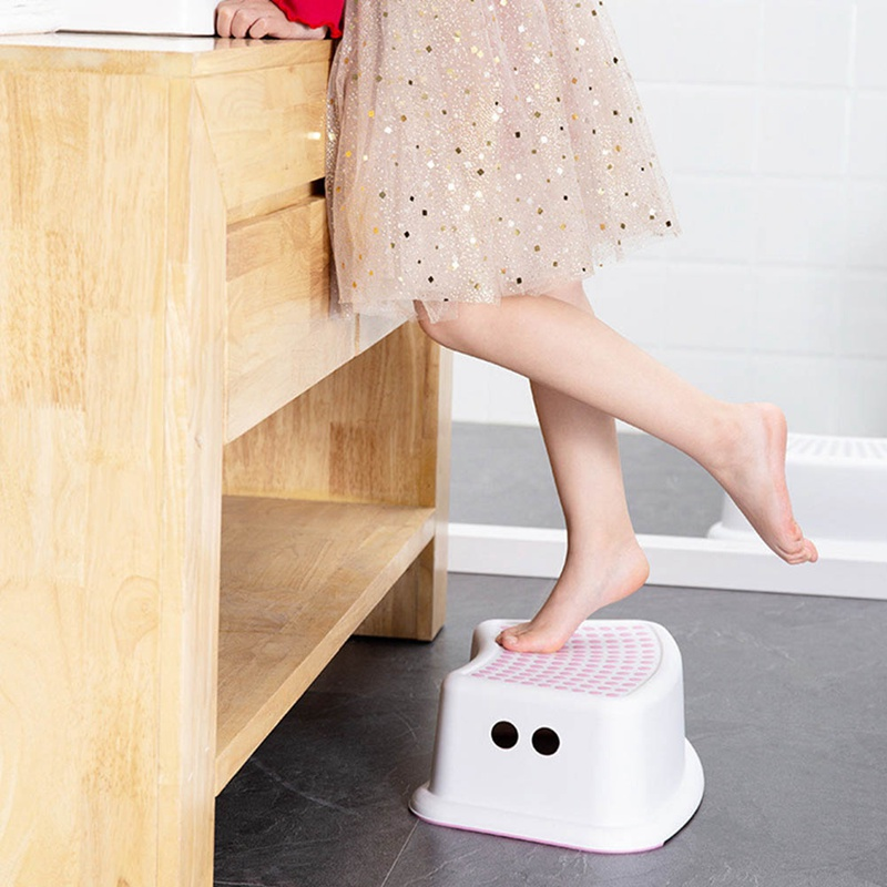 Bench Plastic Stool Bathroom Feeding Hand Washing Bath Stepping Piano Pad Footstool Short Baby Non-slip Children Small  Platform