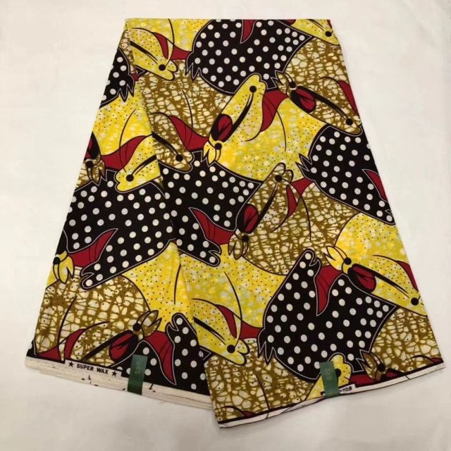 100% Cotton Wax Fabric For African Nigerian Ankara National Clothes, High End Real Dutch Printed Wax Fabrics Free Shipping
