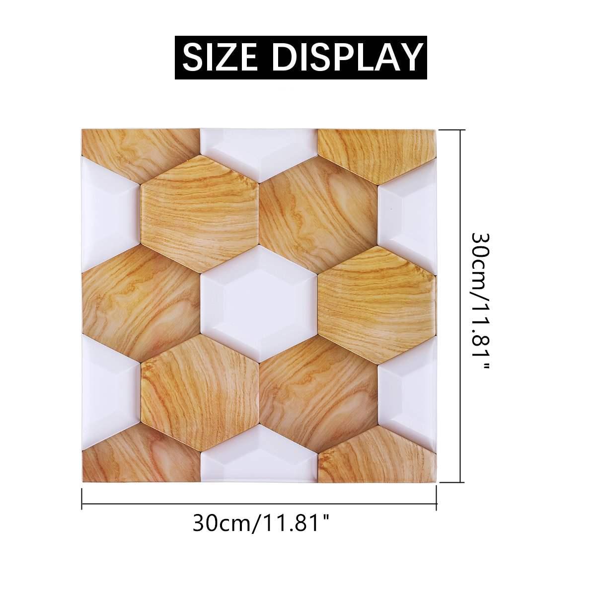 Nouveau 10 pièces/ensemble PVC auto adhésif Stickers muraux 3D pierre papier peint cuisine chambre salon TV fond papier peint décor 30*30 - 5