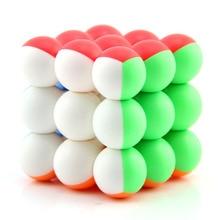 Куб Yongjun круглые бусины три Слои Стразы «Кубик Рубика» флуоресцентный Цвет гладкие круглые бусины моделирование 3-заказ Magic Cube детская Н