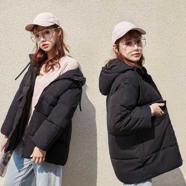 2020 automne hiver coton Parkas surdimensionné manteaux et vestes femmes vêtements d'extérieur à capuche veste bouffante 5