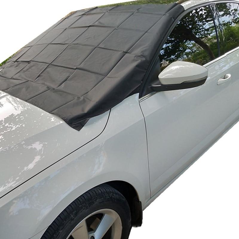 Магнитный автомобильный чехол на лобовое стекло, зимний ледяной защитный козырек, защита от солнца, зимний защитный экран для автомобиля