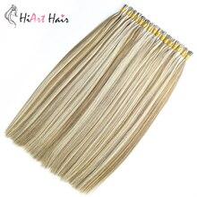 HiArt 0,8 г/с I кончик наращивание волос человека Реми волос салон Straright двухместный нарисованные кератин предварительно скрепленные выдвижения волос 18