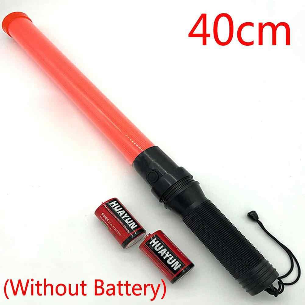 50 Cm/54 Cm Tongkat Lalu Lintas Merah LED Safety Signal Baton Bekerja Senter Lampu dengan Cone Mode Berkedip untuk polisi Lalu Lintas Baton