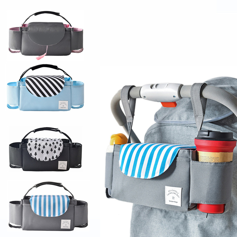 Baby Stroller Organizer Bottle Cup Holder Tote Diaper Bags Maternity Baby Nappy Bag For Mom Baby Carriage Stroller Accessories