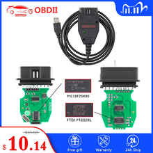 VAG K CAN Commander 1.4 K + CAN FTDI PIC18F25K80 narzędzie do korekcji przebiegu OBD2 OBD VAG interfejs diagnostyczny samochodu k line dla VW/AUDI