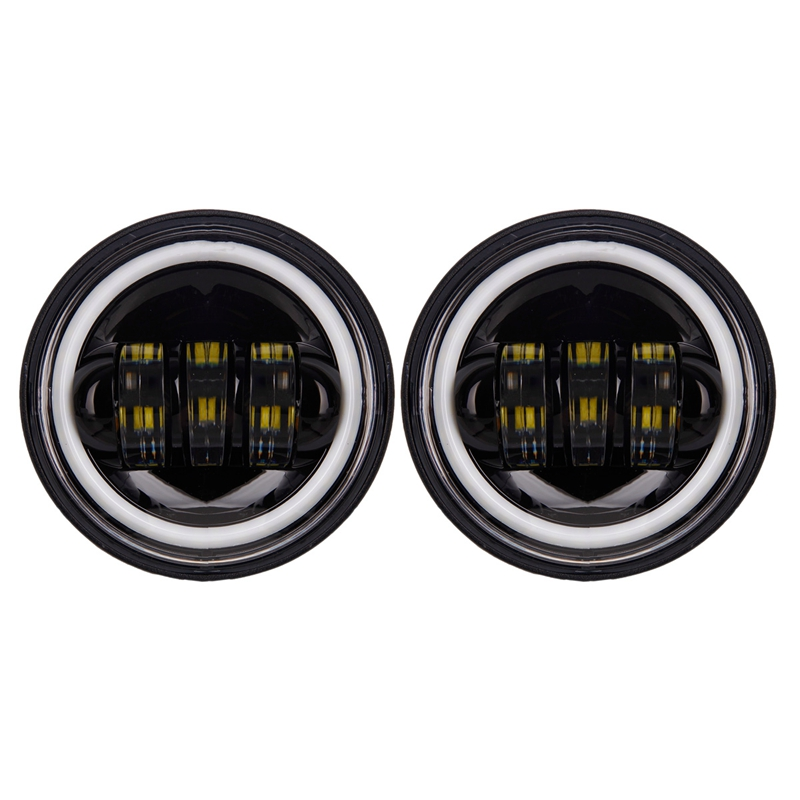 2Pcs 4.5 Inch LED Auxiliary Spot Fog Passing Light Lamp For Yamaha Roadliner