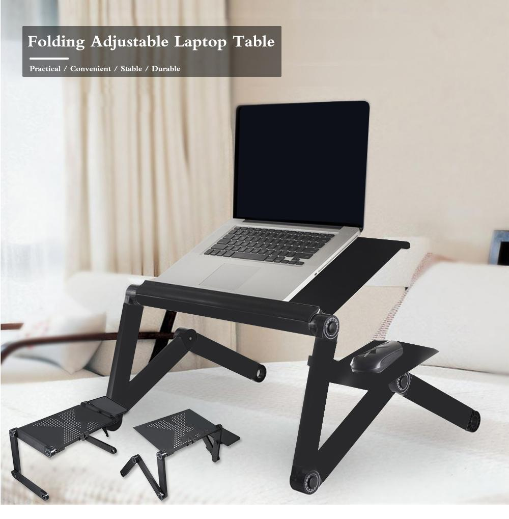 25 Portable Foldable Adjustable Laptop Desk Computer Table Stand Tray For Sofa Bed Black Computer Desk Notebook Stand Hot Sale