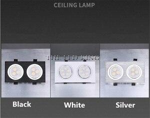 Image 5 - ניתן לעמעום LED Downlights 18W30W AC85 265V כיכר כסף שחור LED תקרת דאון מנורה מטבח בית משרד מקורה תאורה