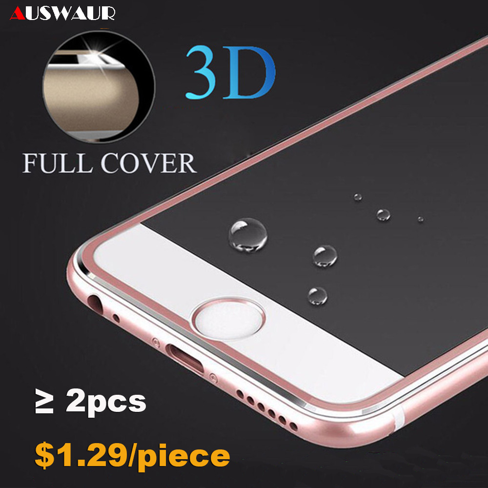 9H 3D Titanium Metal Frame Curved Full Cover Tempered Glass Screen Protector Guard Film For IPhone 6 7 8 Plus 11 Pro X XR XS Max