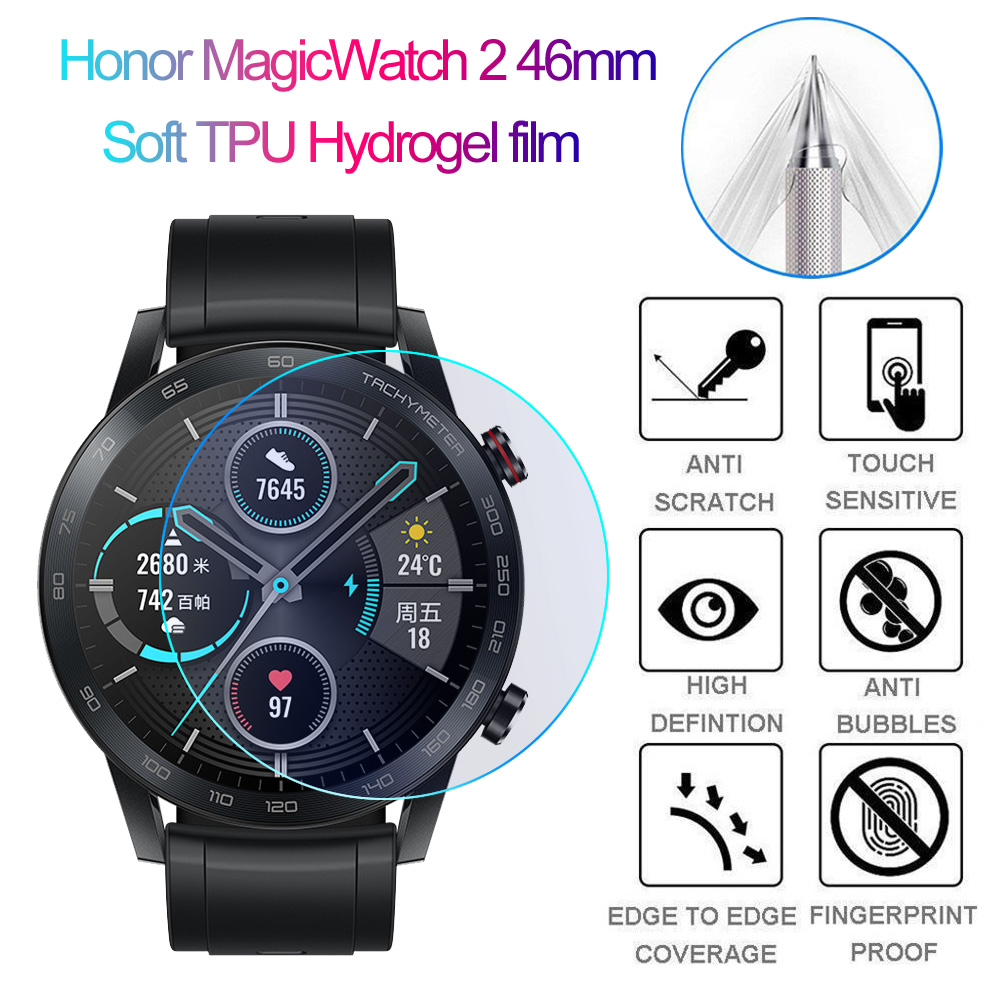 Soft TPU Hydrogel film Full Cover Watch Screen Protector for Honor Magic Watch 2 46mm Smart Watch Accessories