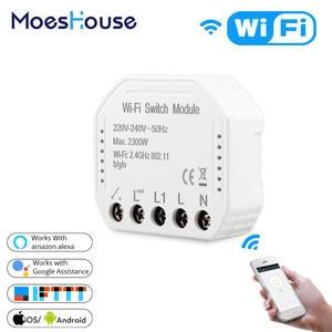 Smart-Light-Switch Breaker-Module Remote-Control Alexa Echo Works Wifi Google Home