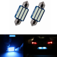 2x No Error Canbus bombilla LED del adorno de 36mm C5W número de placa de luz de la licencia para Audi A4 A6 TT A8 Q3 Q5 Q7 A5 S4 A2 A3 B5 B6 C5 C6