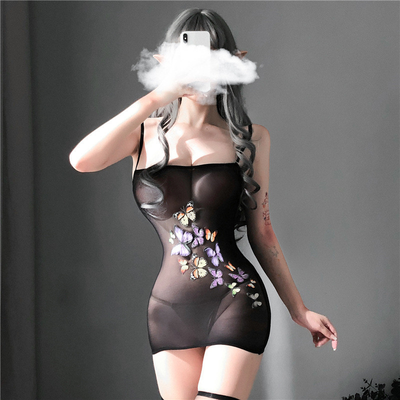 He04db248cabb44b8aed3c30058e04d04c sexy lingerie porno hot women's underwear sex toys erotic costumes intimate nightgown Elastic dresses sleepwear slips kimino