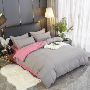 Image 2 - 1 قطعة 100% غطاء لحاف من القطن بلون الملكة الملك الحجم غطاء لحاف سرير واحد مزدوج فندق فراش سرائر للمنازل المادة شحن مجاني