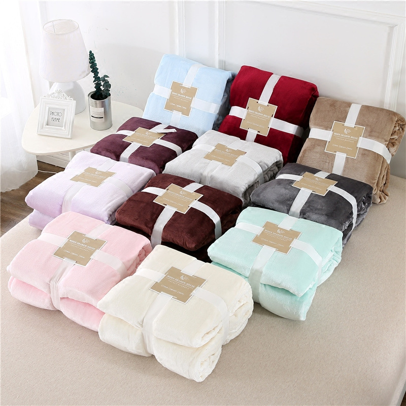 Winter Fluffy Candy Color Flanel Cozy Soft Photo Posing Baby Blanket, Kids Bedding Quilt,sofa Backseat Cover Pet Blanket