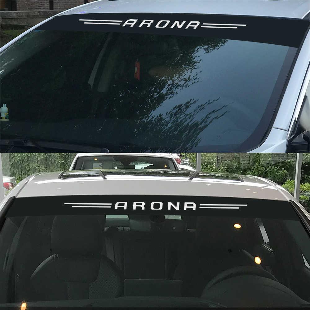 سيارة الديكور الأمامي الزجاج الأمامي ملصقات ل سيات ليون إيبيزا FR Ateca ملصقات عاكسة و ديكور السيارات التصميم اكسسوارات السيارات