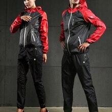 VANSYDICAL комплект одежды для спортзала для мужчин и женщин на молнии худи Спортивная одежда для бега фитнеса тренировок похудения сауны спорт...