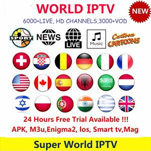 H96 World IPTV subscription Europe Poland Swiss UK Germany Holland Arabia USA Latin for Smart TV M3U Android Mag Box Adultxx(China)