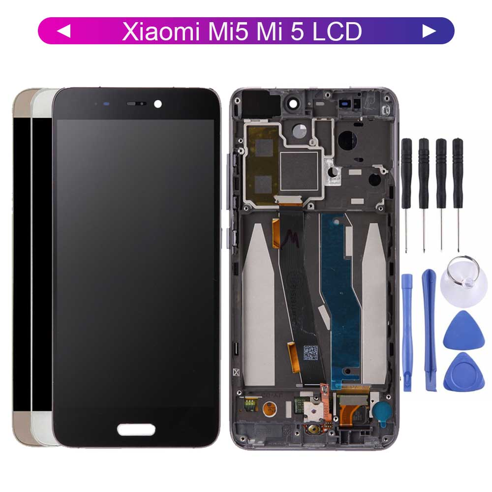 LCD For 5.15'' Xiaomi Mi5 Mi 5 LCD Display Digitizer Screen Touch Panel Glass Sensor Assembly 1920*1080 Replacement Parts