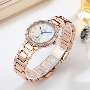 Image 3 - WWOOR elmas kadın saatler lüks altın bayanlar bilezik izle su geçirmez paslanmaz çelik Casual kadın Quartz saat Reloj Mujer
