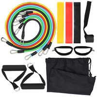 Набор резинок сопротивления для тренировки Fintess упражнения трубки ленты скакалка двери якорь лодыжки ремни с сумкой для переноски для спор...