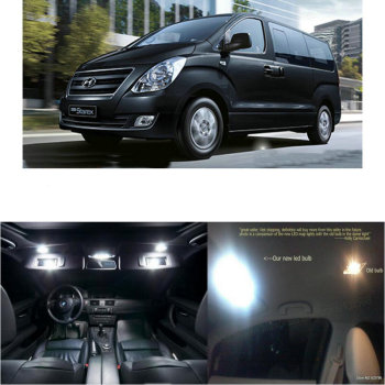 LED Interior Car Lights For Hyundai grand starex 2013  room dome map reading foot door lamp error free 16pc