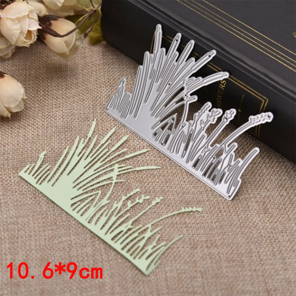 Plants Grass Backdrop Silver Carbon Steel Cutting Die DIY Decoration Craft Scrapbooking Embossing Stencil Art Knife Mold Pattern