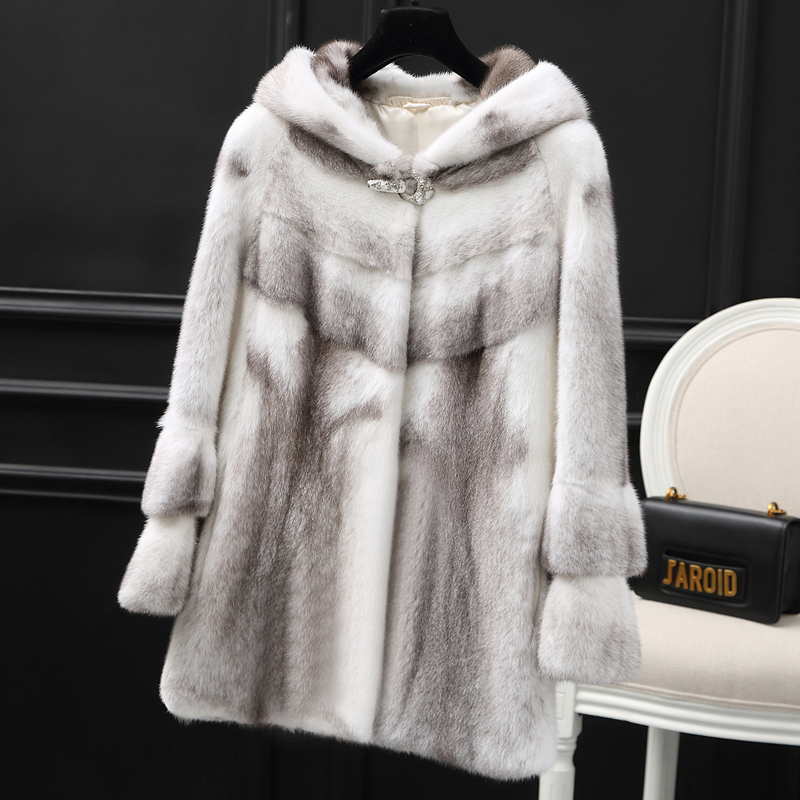 Real Luxury Mink Fur Coat Female Full Pelt Natural Fur Coats Winter Jacket Women Korean Long Jackets Chaqueta Mujer MY S S