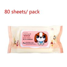 80 Sheets Baby Wipes Lid Baby Wet Wipes with Lid Portable Child Wet Tissues ,Irritant-Free Cleansing Wet Wipes Skin-friendly wet wipes chicco cleansing wipes for breast 80 pcs 0 kidwetwipes